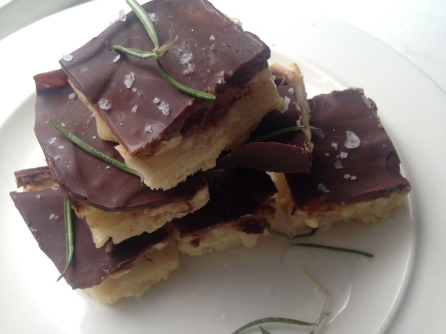 Salted Caramel Millionaire's Shortbread with Rosemary & Cashew Nuts