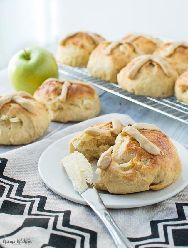 rustic-apple-caramel-hot-cross-buns-12